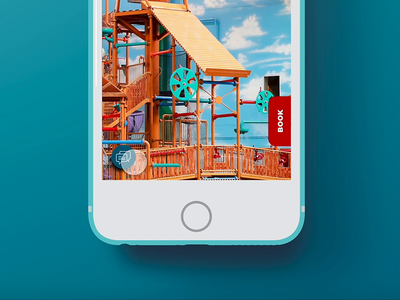 Great Wolf Lodge - Floating Contact Button mobile uidesign user interface design ux design ui kit digital ui digital branding chat button chat live chat live chat button concept design interactiondesign interaction floating ui design contact button floating button