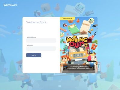 Login page for game library ui colourful library gaming login form login page