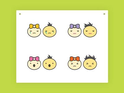 Emoticons Set 2 fun weep straight face angry surprise cry sad emotions emoticon smiley emoji
