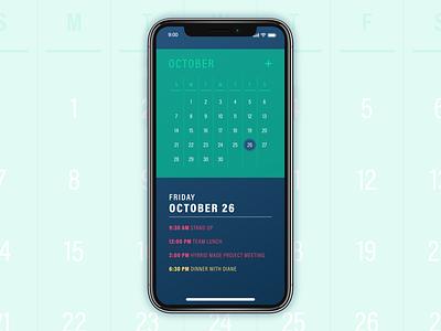 Calendar [Daily UI / Day 038] 038 dailyui038 app ui dailyui design