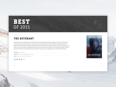 Best of 2015 [Daily UI / Day 063]