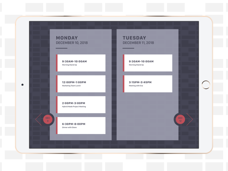 Schedule [Daily UI / Day 071]