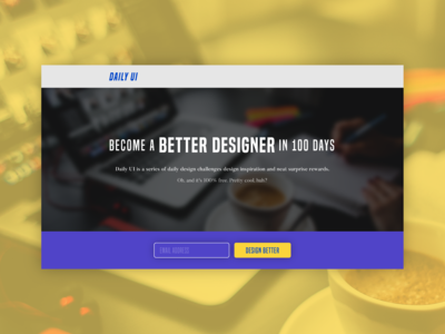 Redesign Daily UI Landing Page [Daily UI / Day 100]