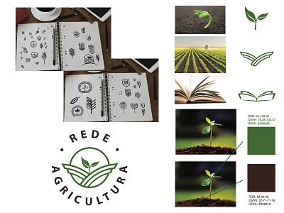 Rede Agricultura   Branding minimal flat typography illustration logotipo design logo branding