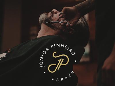 Júnior Pinheiro   Branding minimalism minimal barbershop barber branding design creative logo branding and identity design logotipo branding
