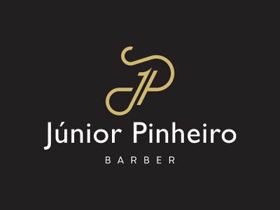 Junior Pinheiro   Branding minimalism barber barbershop minimal branding design branding and identity design logotipo logo branding