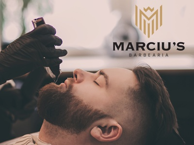 Marciu's Barbearia   Branding barbershop barber minimalism minimal branding design branding and identity design logotipo logo branding