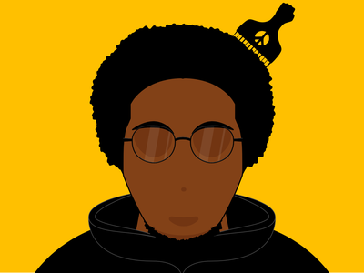 Me illustration clean cartoon vector illustration african american black glasses faceless affinitydesigner vector art vector