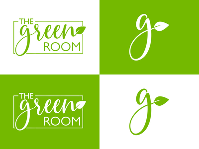 The Green Room growth affinity designer logotype contrast contrasted clean design branding affinitydesigner logo flat vector