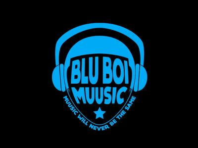Blu Boi Muusic icon flat branding spotify clean blue adobe illustrator adobe logotype vector artist music record record label logo