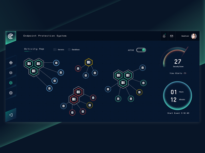 Dashboard Cyber - Endpoint Protection System dark mode ux uiux ui cyber security cybersecurity cyber product design dashboard design dashboard ux design ui design