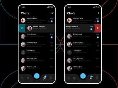 Chat app design - UI/UX app design app dark mode chatting chat application chat app chat dark uxdesign uidesign ui  ux uiux ux ui clean product design ux design ui design
