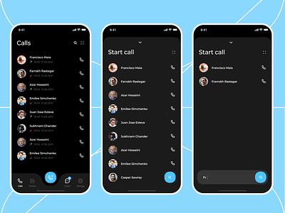 Chat app design - UI/UX dark app dark ui darkmode dark chatting uxdesign uidesign uix uxui ux chat app messaging app message app call chat ui clean product design ux design ui design