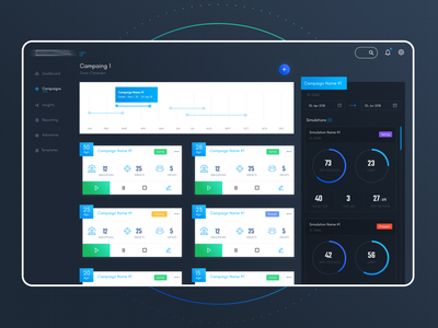 Cyber Security Platform - Phishing dashboard ui dashboard app dashboad system desktop application desktop app darkmode dark productdesign phishing cybersecurity cyber ui product design ux design ui design