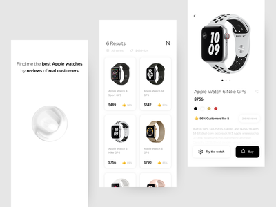 Virtual Assistant - Apple Watch UI mobile apps mobile ui mobile ecommerce augmentedreality 3d art artificialintelligence watches apple watch mobile app app watch white virtual assistant artificial intelligence ui clean product design ux design ui design