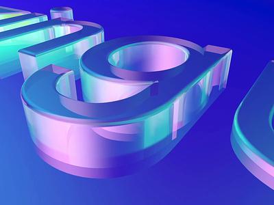 AmazingUI 3D Glass motion graphics illustration c4d branding logo glass 3d animation 3d product design mobile animation