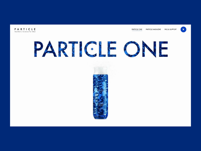 Particle One - Ecommerce page for aesthetic product man product shoping shop ecommerce particles particle motion graphics ux design ui design animation websites website