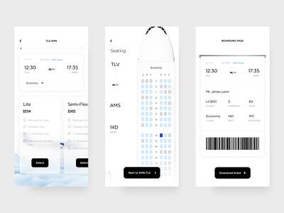 Booking a Flight - App Design booking pass plans sky booking flight booking plane flights flight product design product mobile application mobile app mobile