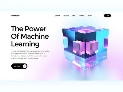 Website Design - Machine Learning illustration iot startup glass c4d 3d art 3d artificial intelligence ai machine learning website design web design web website