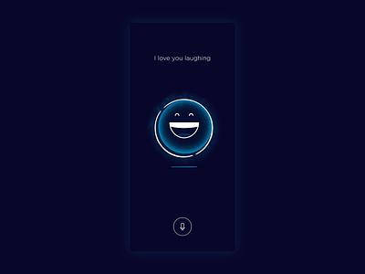 Joya - Ai virtual friend - feelings - laughing feelings emotions emoji emojis smile laugh artificialintelligence animation product design clean artificial intelligence ux design ui design