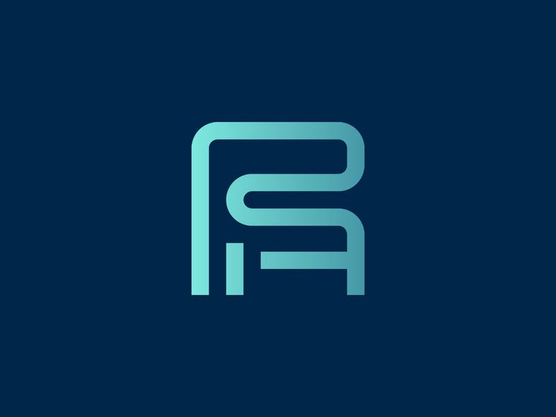 RA monogram minimal monogram strong symbol lines minimalist abstract geometric