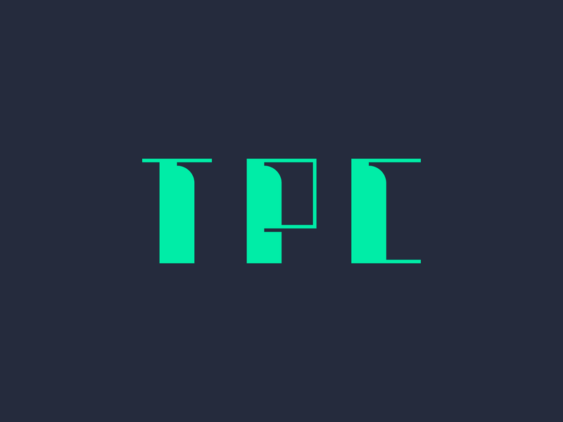 TPC logo minimal modern strong lines minimalist geometric