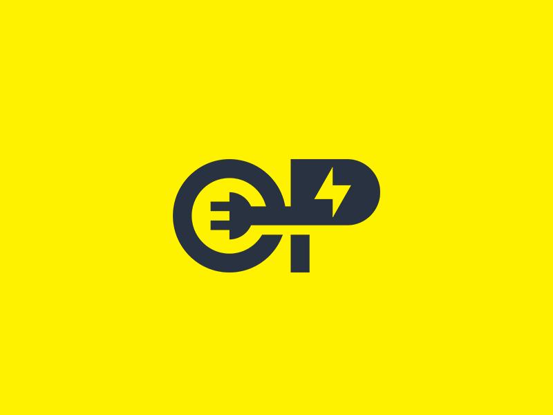 OP symbol monogram strong solid symbol minimalist abstract geometric