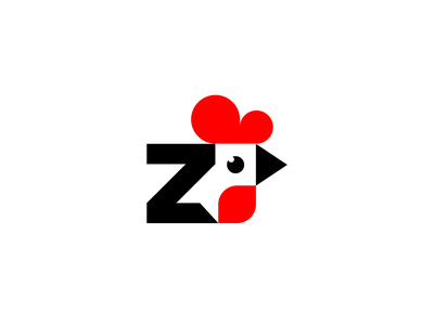 Z rooster business shop pet store company logos field farm memorable simple initial typography letter rooster chicken animal sales sale logotype logo