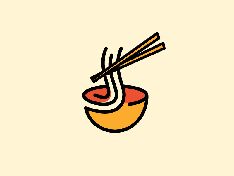 My Ramen japan restaurant noodle ramen food mark brand sale logo design