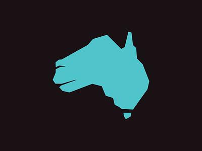 Australia Kangaroo blue vector design memorable kangaroo australia maps identity animal brand sale logo