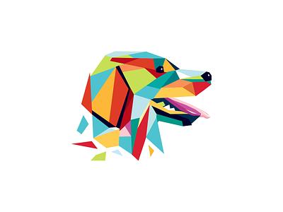 Wpap Dog petshop pet store friendly animal branding illustration cute identity vector wpap colorful pet pets dog animal brand sale logo