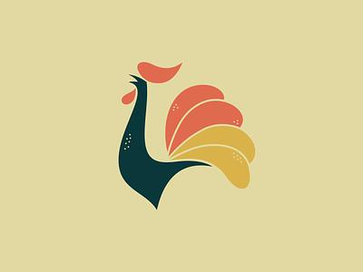 Vintage Rooster chicken old vintage classic rooster design illustration vector identity animal brand sale logo
