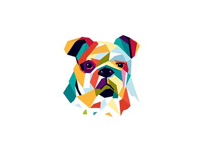 Bulldog guard bulldog colorful vector security protection dog wpap pets pet animal identity mark brand sale logo