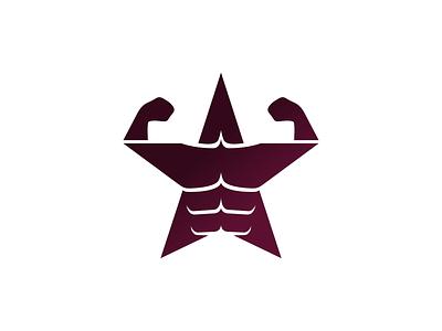 Stargym apps startup simple clean excercise modern brave strong gym star illustration vector identity mark design brand sale logo
