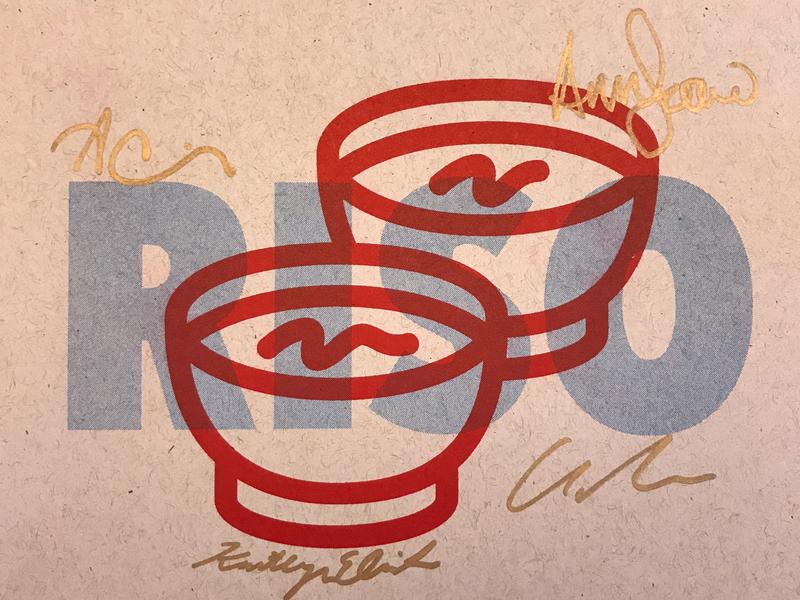 We got a RISO! thumbtack typogaphy design risoprint risograph riso