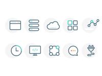 Cloud Space Services icon set