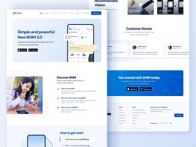 Bhim Landing Page   Redesigned simple modern design ux ui website landing page