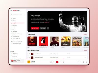Music App   Redesigning Wynk Music redesign branding web app ui simple modern music app