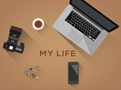 My Life illustrator life illustration flat