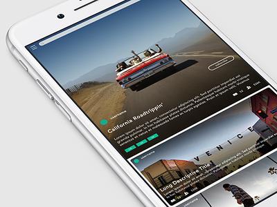 Klusster - Homescreen html mobile web app iphone ios design ux ui story homescreen klusster