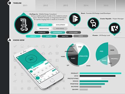 Visual Resume - Light Theme product designer visual infographic resume portfolio
