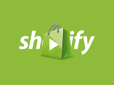 Shopify Media Logo  bag buy shopping green play masthead logo media shopify