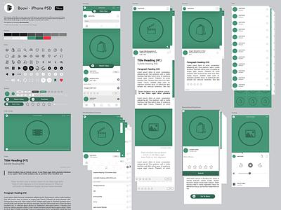 Boovi - Master .PSD v1 ios app boovi components master experience interface user iphone ui ux photoshop