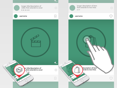 Boovi - 2 Feeds, 1 App media content shopping wireframe ecommerce boovi ui design ux