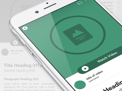 Boovi Content Page green simple appstore app product ux iphone ios design ui