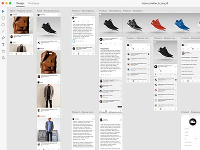 Boovi - Product Feed (AdobeXD) mockup mobile app ios prototype design ux adobexd adobe uikit kit ui
