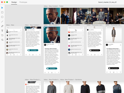 Boovi - Inbox (AdobeXD) content iphone ios mobile app mockup kit uikit ux adobexd adobe ui