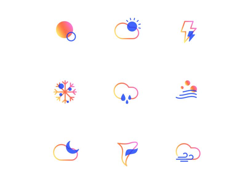 WEATHER graphic flat icon vector design ux ui