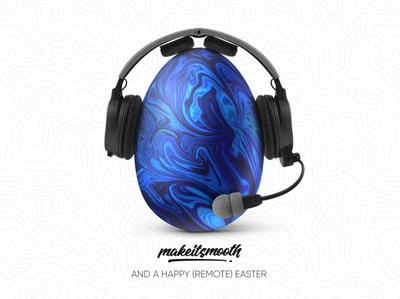 Happy Easter design headphones headphone gamer 2020 fluid easter egg egg easter happy easter card