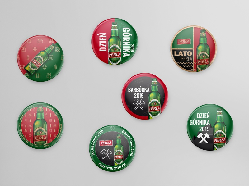 Round bottle openers with magnet. Perła creative  design creative mark promo logo illustrator beer branding beer art piwo beer perła magnet openers opener bottle